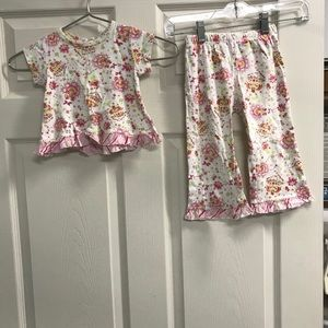 Baby Nay White and Pink Floral Lounge Set Size 2T